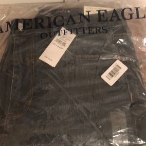 American Eagle Super High Rise 12 Short Skin Jeans